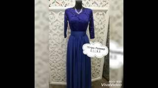"""Синее платье с рукавом для подружки невесты. Купить платья через интернет в магазине """"Пафос"""""""