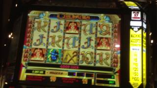 Cleopatra Slot Machine-High Limit-$1 denom-$9 bonus and re-trigger.
