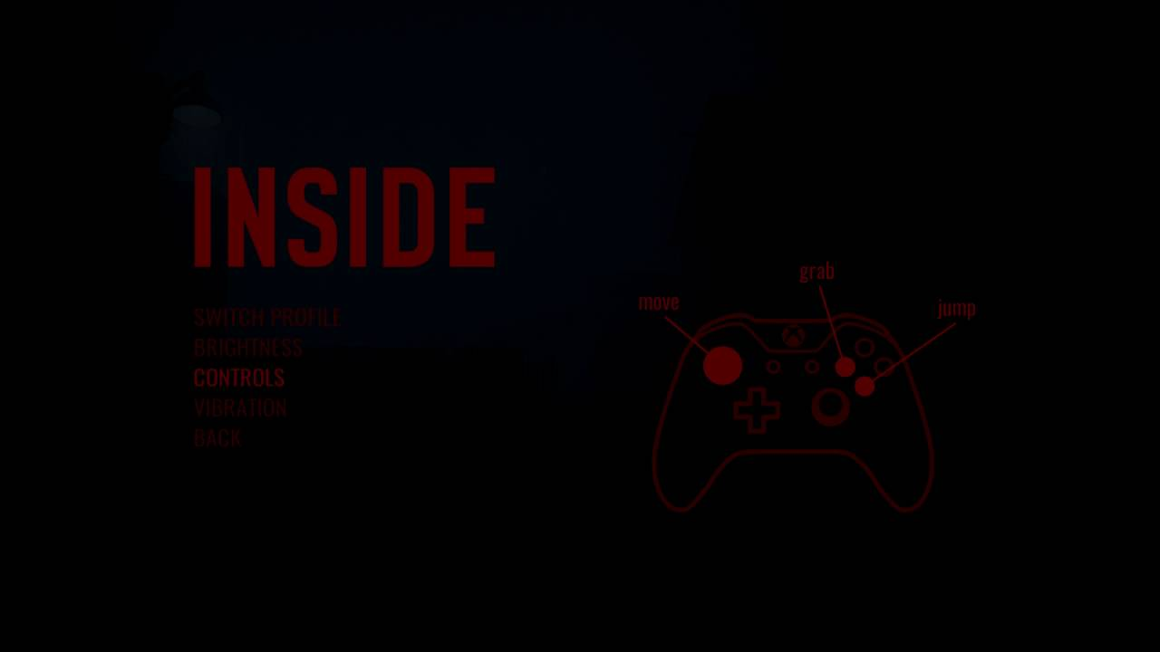 INSIDE - Xbox One Gamepad Controls / Button Layout: Grab, Move & Jump  Commands Information XBO