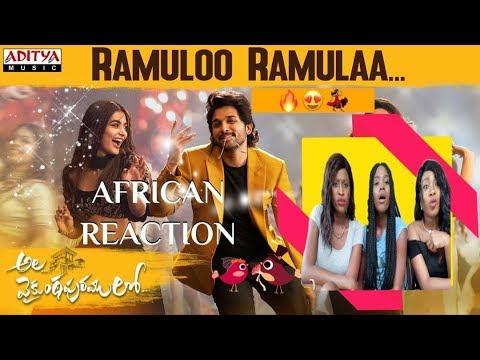 ramuloo-ramulaa-full-song-||-allu-arjun-||-trivikram-|-thaman-s-|#aa19-african-girls-&-asia-reaction