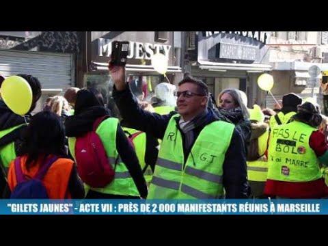 Gilets jaunes  - Acte VII : près de 2 000 manifestants réunis à Marseille