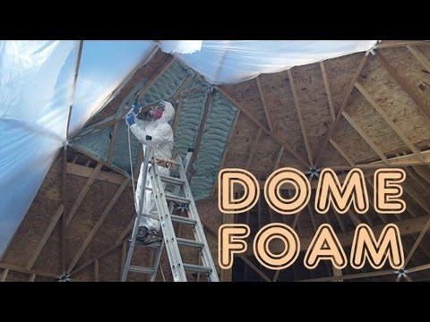 geodesic-dome-greenhouse---part-11---foam,-doors-&-floors