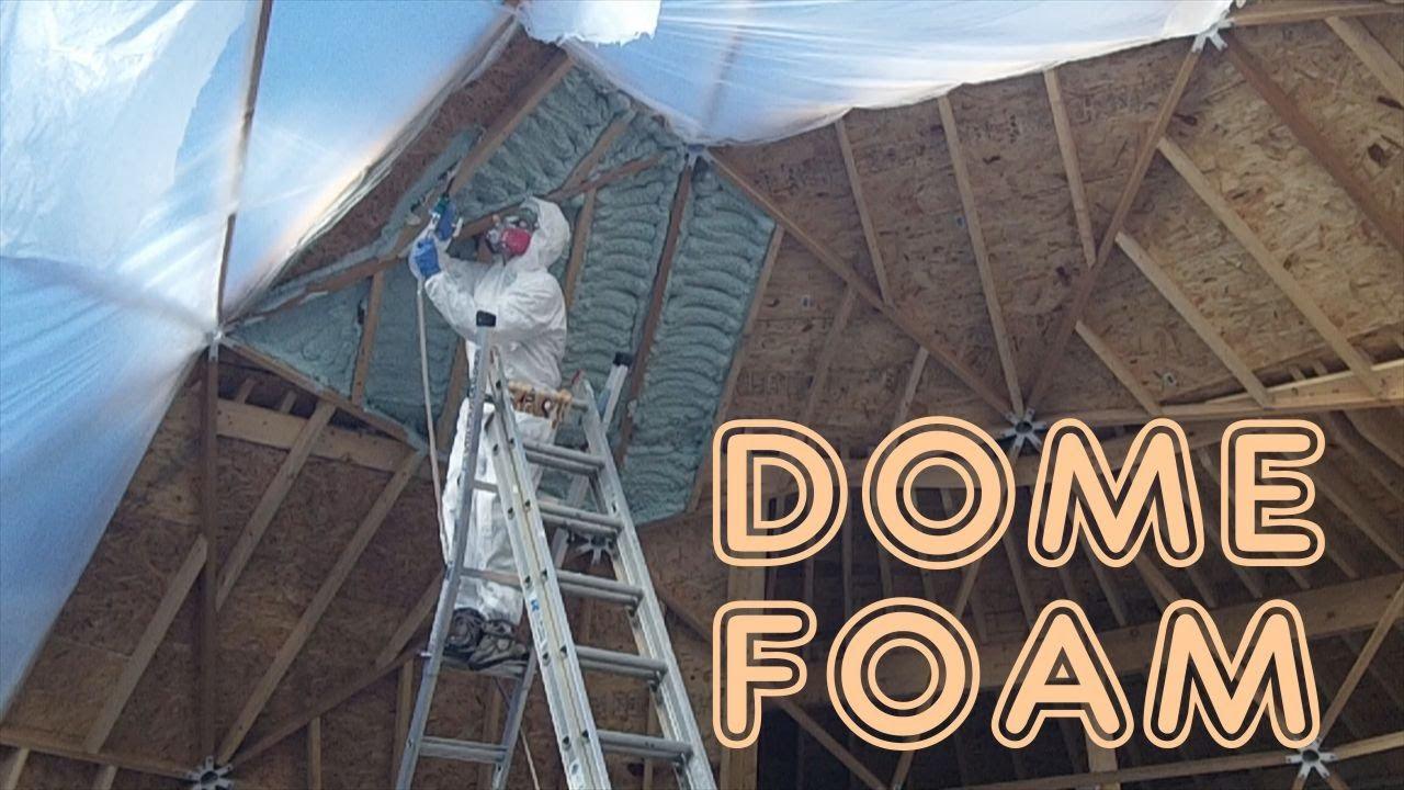 Geodesic Dome Greenhouse Part 11 Foam Doors Floors