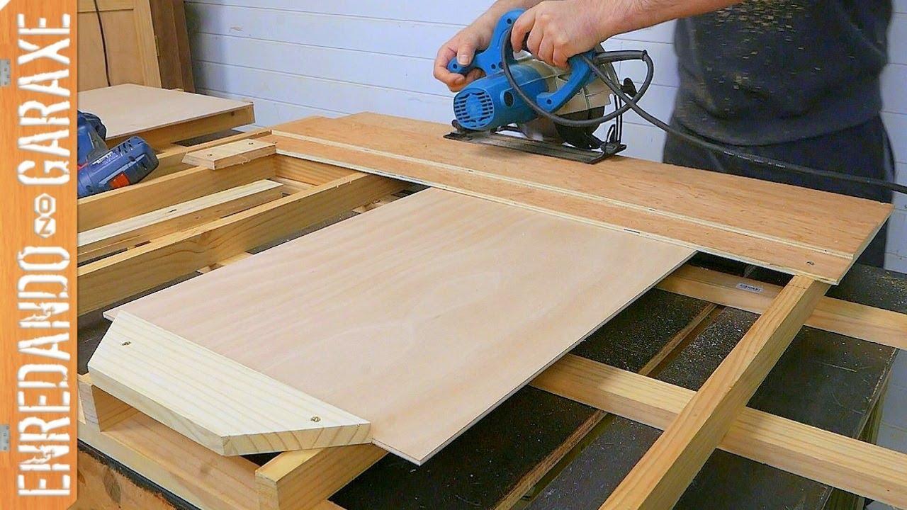 Truco de carpinter a para cortar tableros exactamente for Cosas con madera reciclada