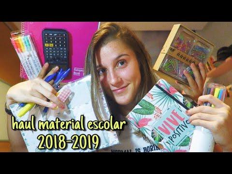Haul Material Escolar 2018  Back To School