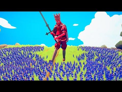 1 KING VS 10,000 CHILDREN! (Totally Accurate Battle Simulator)