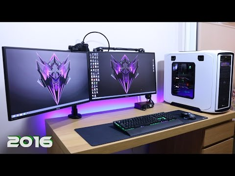 Ultimate Clean Gaming Setup 2016, How Do I Manage My Cable Management Guide Tutorial