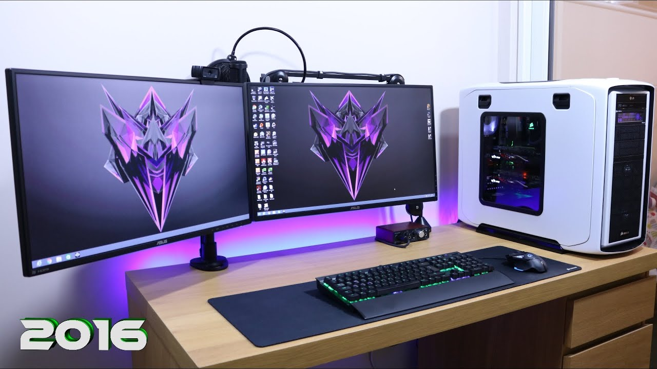 Ultimate Clean Gaming Setup 2017 How Do I Manage My Cable Management Guide Tutorial You