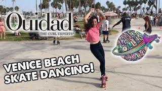 Ouidad Skate Dancing at Venice Beach