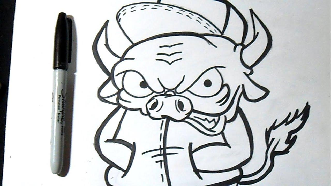 C mo dibujar un toro graffiti doovi for Graffitis para ninos