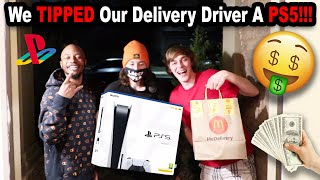We Tipped Our Delivery Driver a PS5 and an Xbox!!!