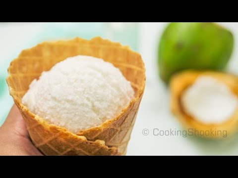 Tender Coconut Ice Cream Recipe ~ Natural Style | No-Eggs No-Ice Cream Maker