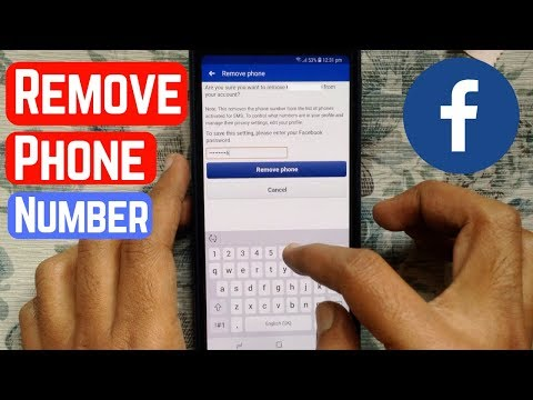 How To Remove Phone Number From Facebook (Android)