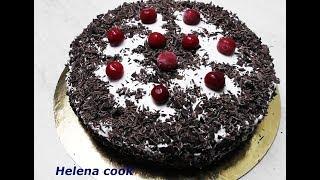 Cake Black forest with cherry the most delicious Торт Черный лес с вишней самый вкусный