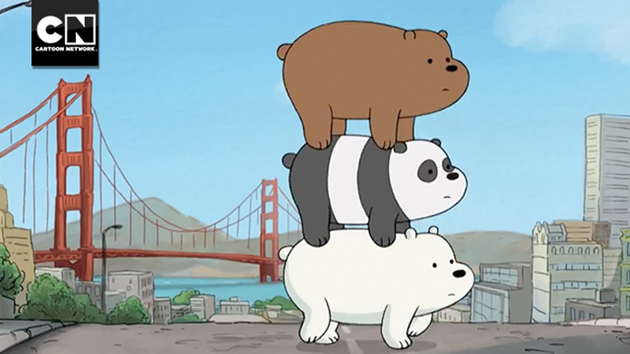 Open we bare bears san diego comic con i cartoon network youtube - We bare bears background ...