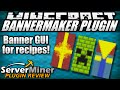 How to get banner recipes in Minecraft with BannerMaker Plugin