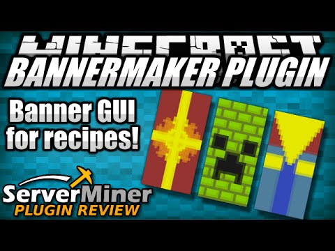 how to get banner recipes in minecraft with bannermaker plugin youtube