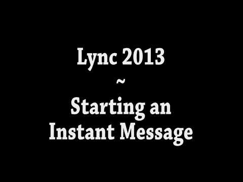 Skype for Business (formerly Lync) - Basic Instant Messaging