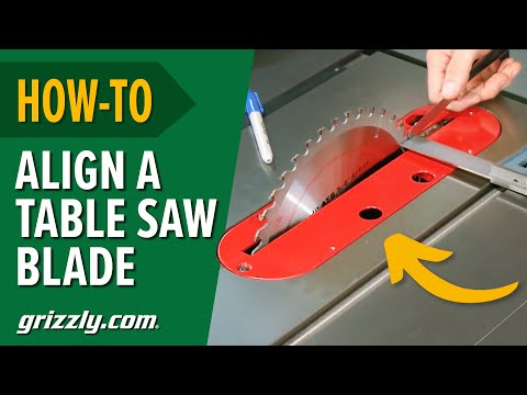 How To Align a Table Saw Blade to Miter Slot