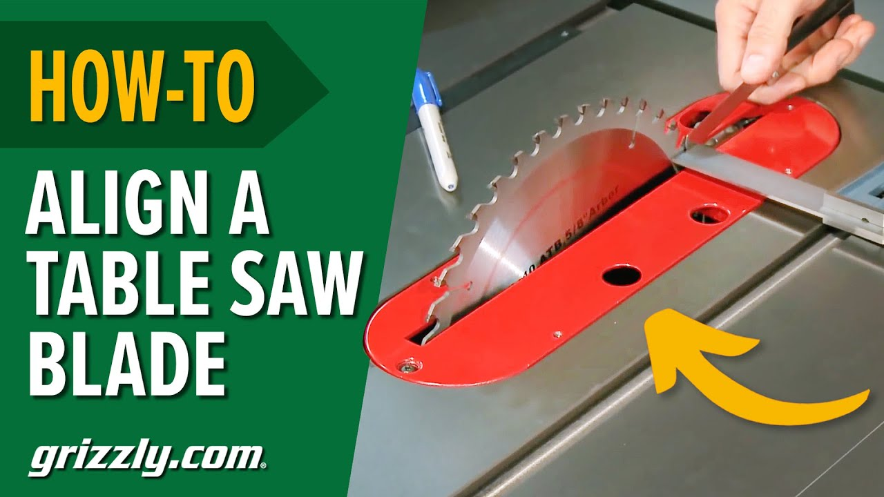 How To Align A Table Saw Blade To Miter Slot Youtube