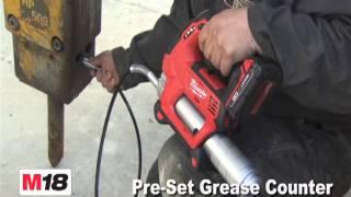MILWAUKEE M18 2-Speed Grease Gun - Bare Tool Model# 2646-20 Video