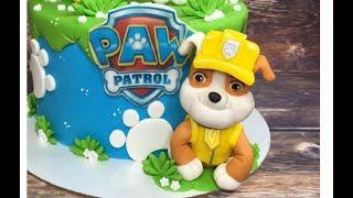 "Крепыш из  М/ф  ""Щенячий патруль ""/how to make a Man of ""paw patrol"" cake topper"