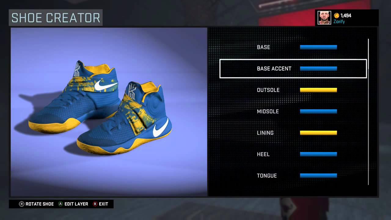 NBA 2K16 Shoe Creator - Nike Kyrie 2 Custom