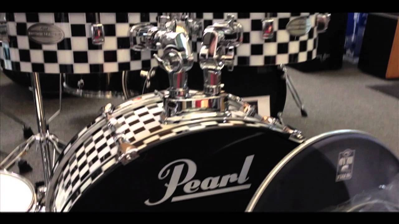 second hand pearl rhythm traveler kit checkerboard finish youtube. Black Bedroom Furniture Sets. Home Design Ideas