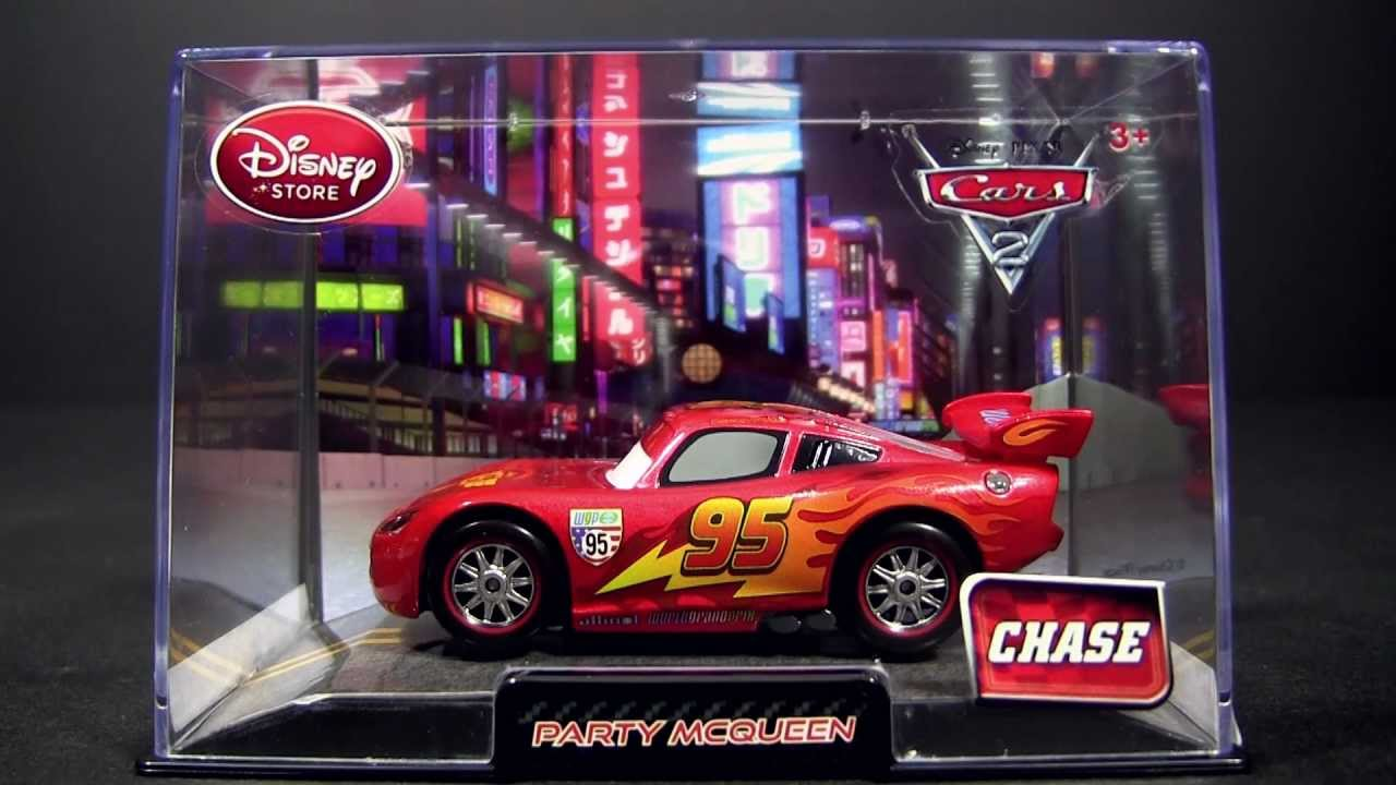 cars 2 party lightning mcqueen disney store exclusive chase edition