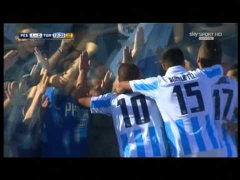 Pescara 2-0 Torino - Lancio di Verratti gol di Insigne