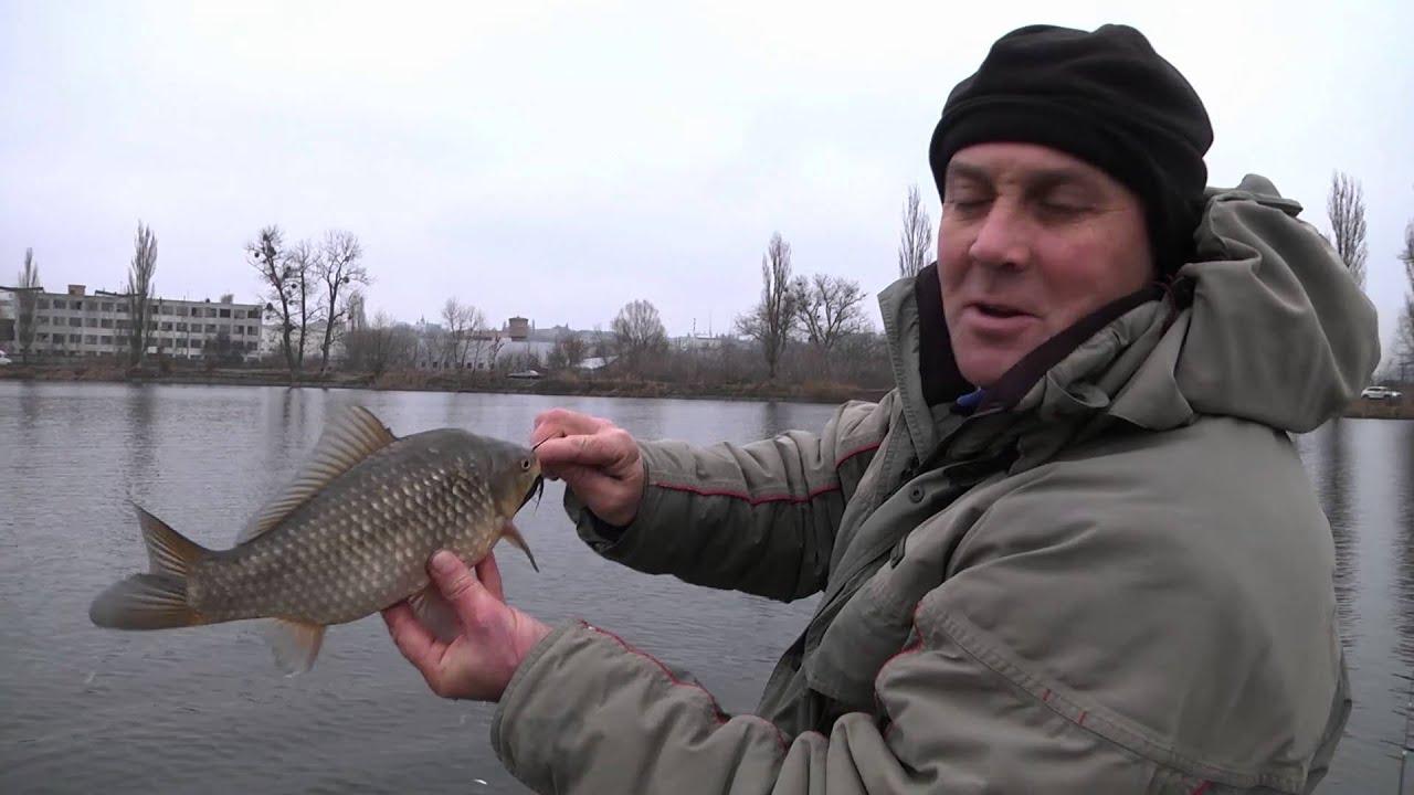 Ловля леща и карася на фидер на реке Дон. Рыбалка - Видео