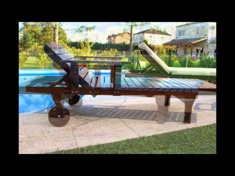 Camastros con ruedas y apoyabrazos muebles de madera y for Camastros para jardin