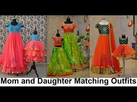 Mom and Daughter Matching Indian Outfits For Party Wear