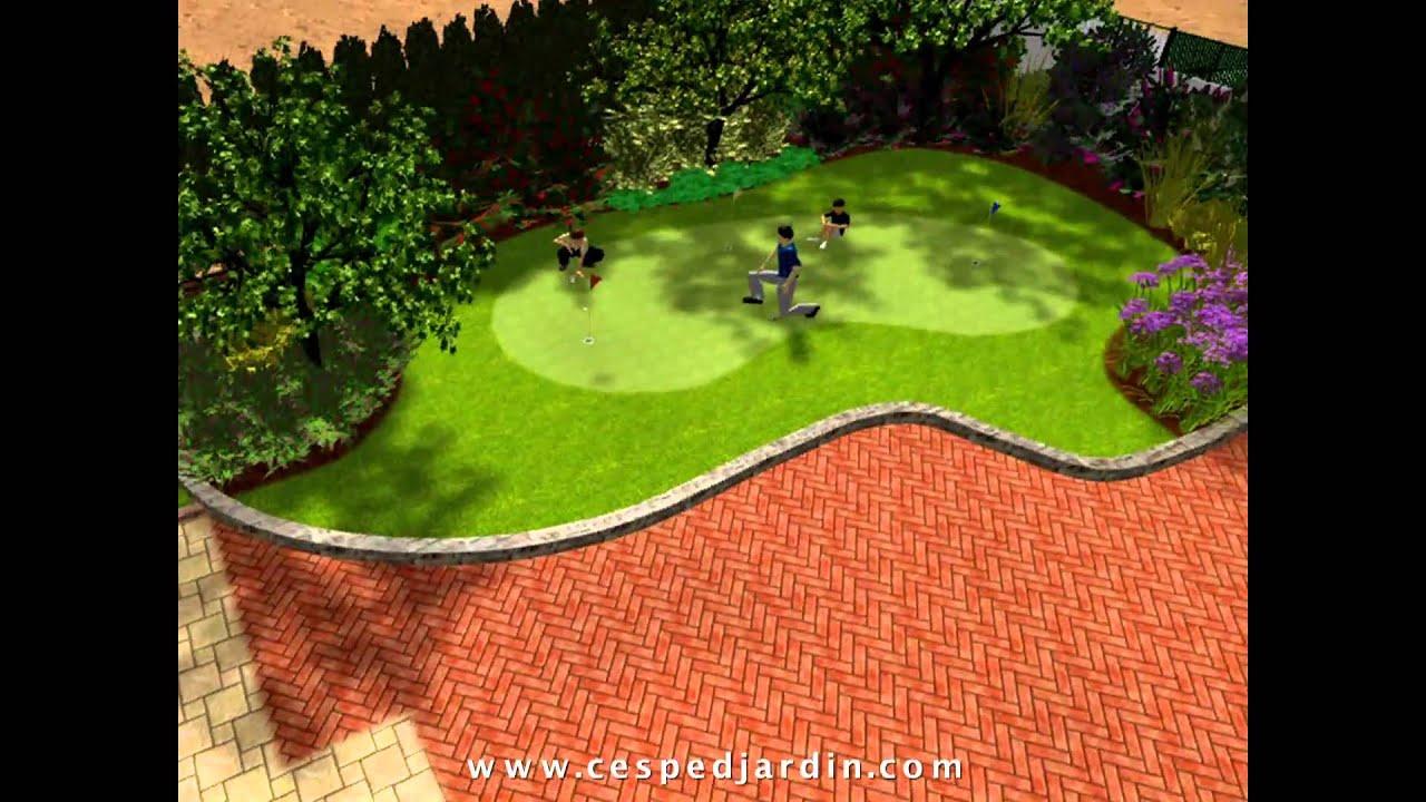 Cespedjardin dise o jardines 3d hd 01 youtube for Diseno jardines 3d