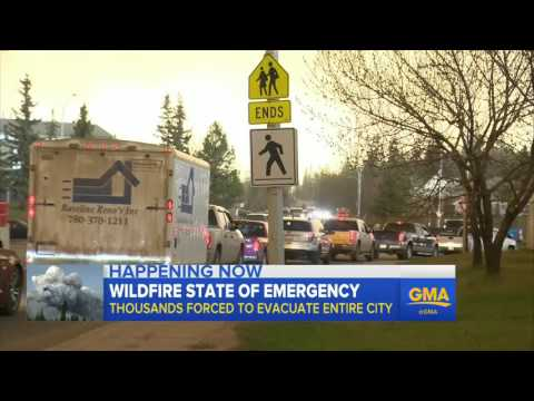 Canadian Wildfire State Of Emergency, City Evacuated