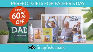 Great Father's Day deals on personalised products from Snapfish UK. Order before 14th June 2020.
