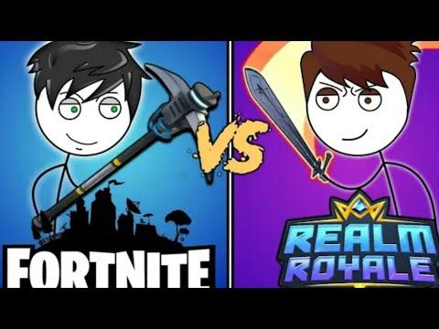FORTNITE GAMER VS REALM ROYALE GAMER. Ft Gidu Gamer.