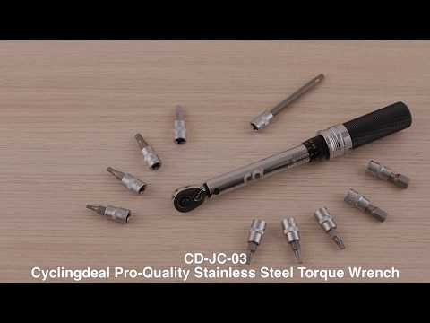 How to use CyclingDeal CD-JC-03 Bike - Torque Wrench Allen Key Tools Socket Kit 2-24Nm
