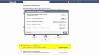 Facebook Privatsphäre Einstellungen und Datenschutz - Verbindungen (Teil1/3)