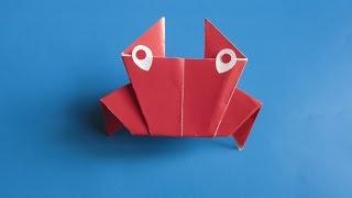 КРАБИК - Легкое Оригами для Детей из Бумаги Своими Руками. Видео для начинающих(Очень легкое в исполнении оригами –КРАБИК. Для него Вам понадобиться листочек бумаги размером 10х10 см., 2015-11-07T20:46:51.000Z)