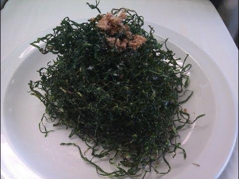 deep fried seaweed ( spring cabbage )