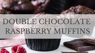 Double Chocolate Muffins with Raspberries Recipe