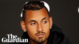 Nick Kyrgios faces the media after Bernard Tomic's allegations that there is a rift in Tennis Australia between Davis Cup captain Lleyton Hewitt and Kyrgios, ...