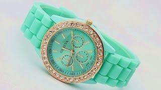 женские часы geneva(часы geneva. обзор №7 http://vk.com/glazov_kitai_rulit., 2014-03-23T20:35:17.000Z)