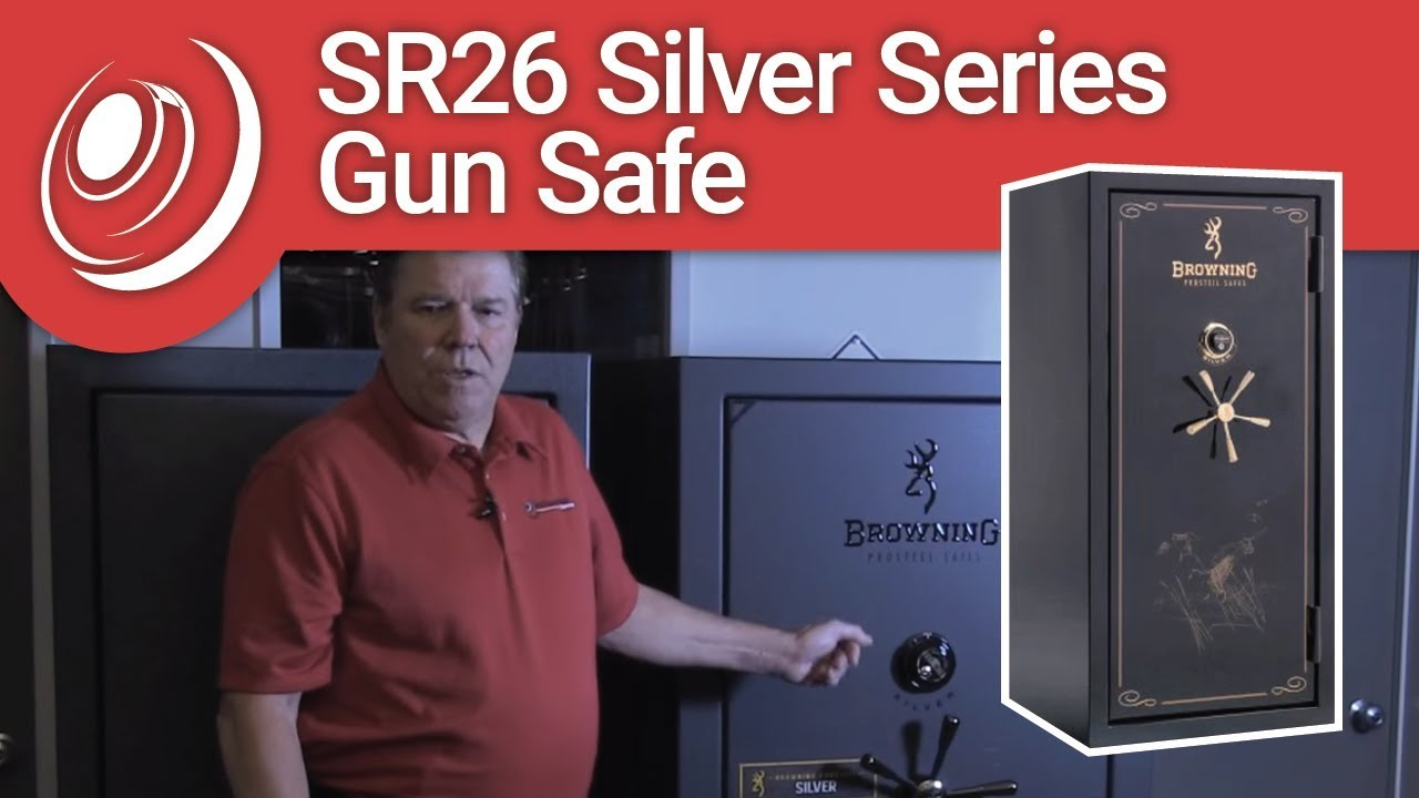 Browning SR33 Silver Series Gun Safe - Black Gloss
