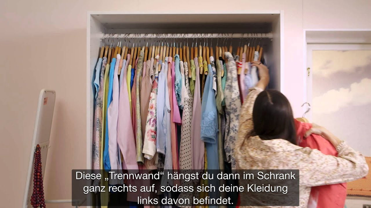 kleiderschrank ganz einfach ausmisten ikea lifehack youtube. Black Bedroom Furniture Sets. Home Design Ideas