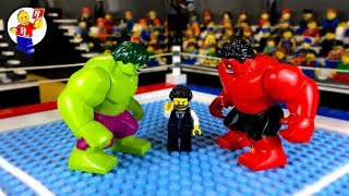 Hulk vs Red Hulk 💥 lego Superhero 🔴 Lego Stop Motion Animation