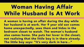 Woman Having Affair While Husband Is At Work