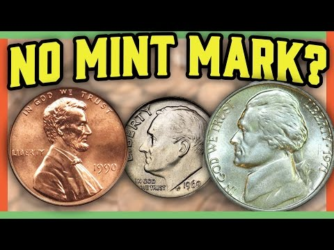 RARE ERROR COINS WORTH MONEY -  MISSING MINT MARK COINS IN POCKET CHANGE!!