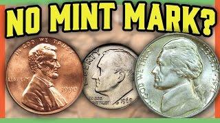 RARE ERROR COINS WORTH MONEY -  MISSING MINT MARK COINS IN POCKET CHANGE!!